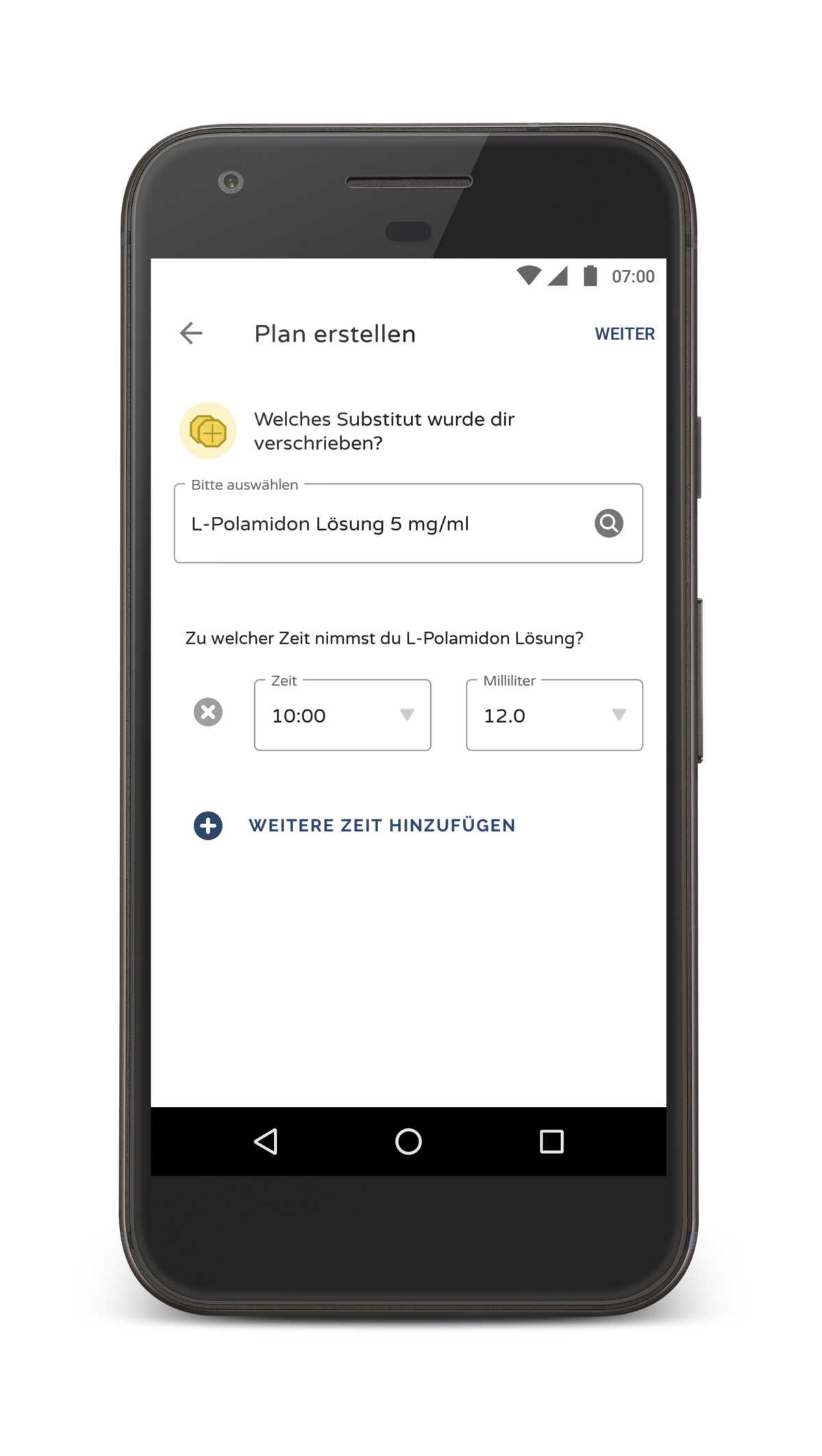 Screenshot: Substitutionsplan erstellen